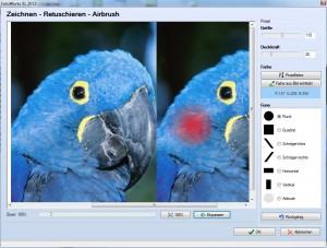 Retuschieren mit dem Bildbearbeitungsprogramm